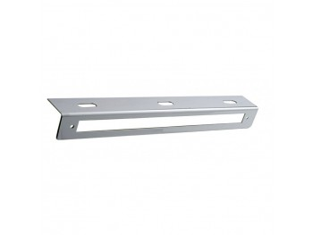 "12 3/4"" Stainless Light Bracket w/ 1 Light Cutout"