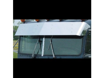 "Stainless Steel Peterbilt 13"" Drop Visor"