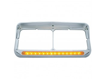 14 LED Dual Headlight Bezel w/Visor
