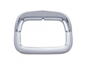 "Single 8""x6"" Headlight Bezel w/Visor"