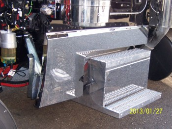 Custom Peterbilt 389 One Piece Formed Hood Extension Panels/Sleeper Panels