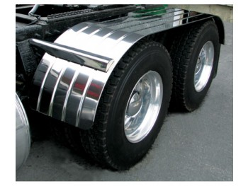 "Stainless Steel 120"" Fully Ribbed (Canadian Spread) Full Fender with Beaded Edge (35""-60""-25"")"