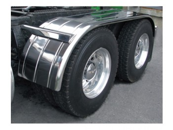 "Stainless Steel 120"" Fully Ribbed (Canadian Spread) Full Fender with Rolled Edge (35""-60""-25"")"