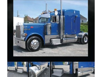 "Peterbilt 379 Stainless Steel ""Southern Style"" 9"" Deep Cowl, Cab, 63"" Sleeper & Extension Kit"