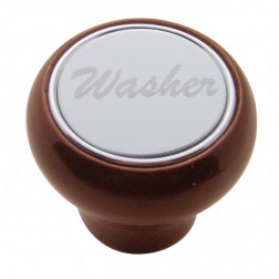 """Washer"" Wood Deluxe Dash Knob-SS Plaque"