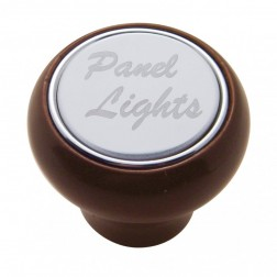 """Panel Lights"" Wood Deluxe Dash Knob-SS Plaque"