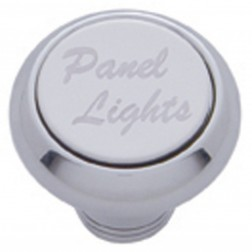 """Panel Lights"" Deluxe Dash Knob-SS Plaque"