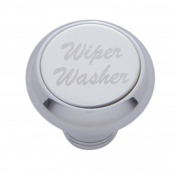 """Wiper/Washer"" Deluxe Dash Knob-SS Plaque"