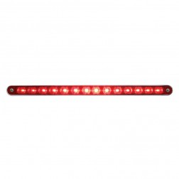 "14 LED 12"" Stop,Turn & Tail Light Bar w/ Bezel Red LED Clear Lens"