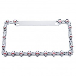 Chrome Small Skull License Plate Frame