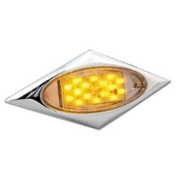 "Gen 2"" Amber LED w/ Diamond Bezel (16 Diodes)"