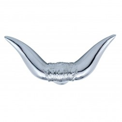 "Chrome ""Bull Horn"" Hood Ornament"