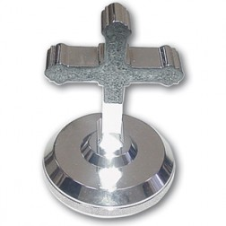 Christian Budded Cross Chrome Aluminium Hood Ornament