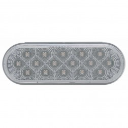 16 LED Reflector Oval P/T/C with Chrome Reflector
