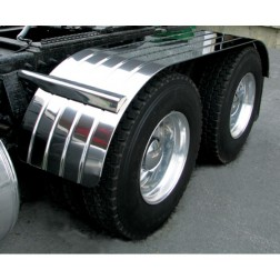 "Stainless Steel 120"" Fully Ribbed Full Fender with Beaded Edge (35""-54""-31"")"