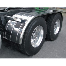 "Stainless Steel 120"" Fully Ribbed Full Fender with Rolled Edge (35""-54""-31"")"