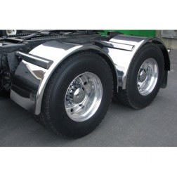 "Stainless Steel 80"" Fully Smooth Single Axle Fender with Rolled Edge"