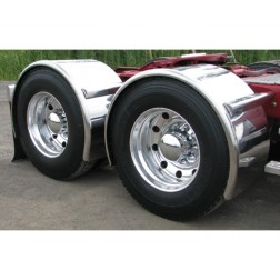 "Stainless Steel 91"" Fully Smooth Single Axle Fender with Rolled Edge"