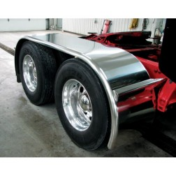 "Stainless Steel 142"" Fully Smooth Boss Full Fender with Rolled Edge (44""-54""-44"")"