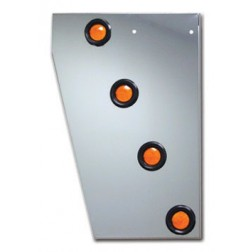 "Peterbilt 379 Cowl Panel with 8 x 2"" LED's & Bezels"