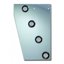 "Peterbilt 379 Cowl Panel with 8x2"" Clear LED's & Bezels"