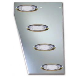 Peterbilt 379 Cowl Panels with 8 Slotted Light Holes Only