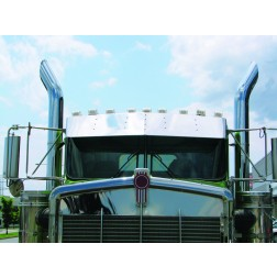 "13"" Kenworth W900 Boltless, Bowtie Curved Glass Sunvisor (1995+)"