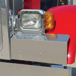 Peterbilt Fender Guards-Single Headlight Mount
